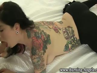 Punk goth tattoo slut