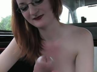 bangers Busty redhead backseat